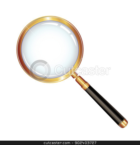Magnifying glass stock vector clipart, Magnifying glass isolated over white background   by Merlinul