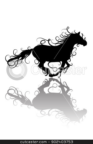 Stylized horse  stock vector clipart, Stylized horse silhouette by Merlinul
