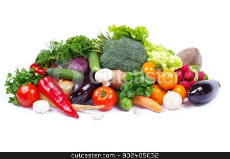 vegetables  stock photo, fresh vegetables on the white background by Vitaliy Pakhnyushchyy