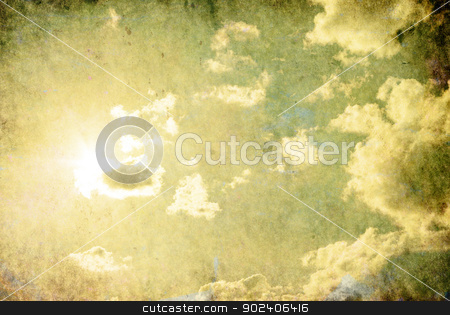 cloudy sky stock photo, retro image of cloudy sky by Vitaliy Pakhnyushchyy
