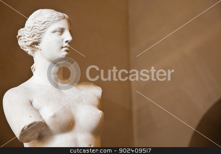Venus de Milo stock photo, Statue of the Greek goddess Aphrodite, discovered on the island of Melos (