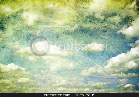 sky  stock photo, grunge background of a sky with clouds by Vitaliy Pakhnyushchyy