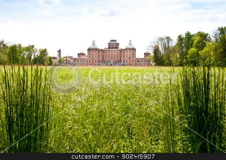 Royal garden stock photo, Italy - Racconigi Royal Palace. The green garden of the Palace during spring season by Paolo Gallo