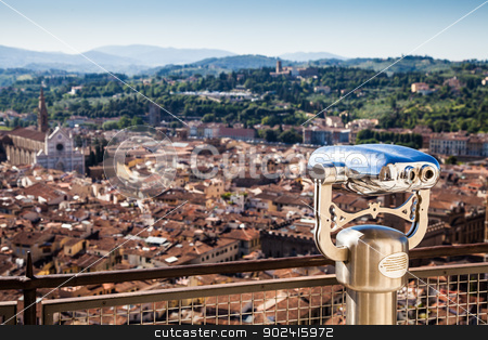 Florence panoramic view stock photo, Florence, Italy: panoramic view from the top of Duomo church by Paolo Gallo