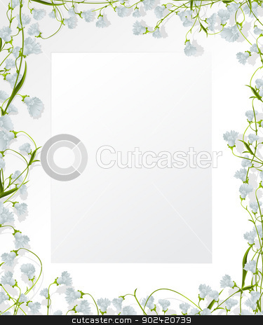 Floral frame design stock vector clipart, Decorative floral design for text of photography by Richard Laschon