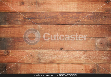 red barn wood background stock photo, red weathered barn wood background with knots and nail holes by Marek Uliasz