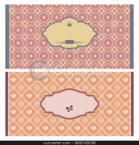 Frames in retro style stock vector clipart, Frames in retro style. Great for invitations and greeting cards. by SelenaMay