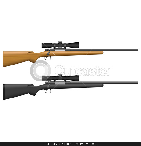 Sniper Rifle stock vector clipart, Layered vector illustration of isolated Sniper Rifle. by Liu Yin