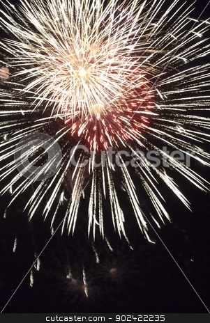 Fireworks flower stock photo, Festival of fireworks, A few fireworks commands is shown own skill by Aikon