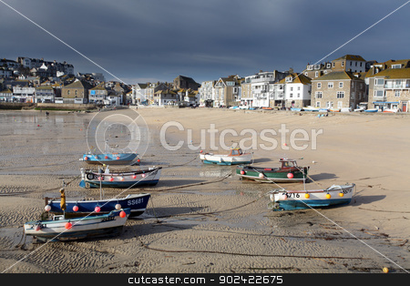 st ives harbpr stock photo, st ives harbor in south west cornwall england UK by Ollie Taylor
