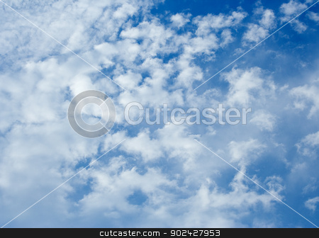 Clouds stock photo, White clouds on the blue sky on a sunny day by GPimages