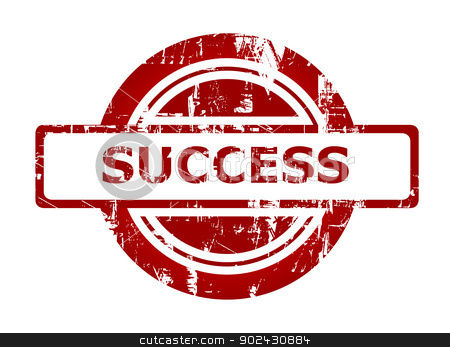 Success business stamp stock photo, Succes business stamp with copy space isolated on white background. by Martin Crowdy