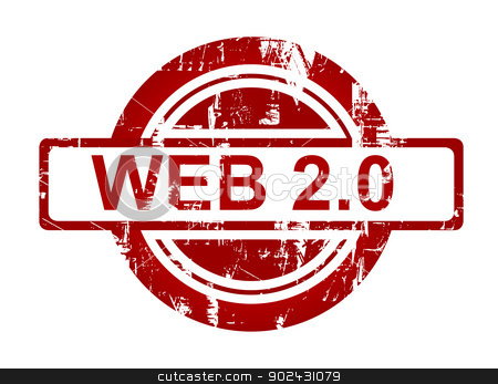 Web 2.0 stamp stock photo, Web 2.0 stamp isolated on white background. by Martin Crowdy