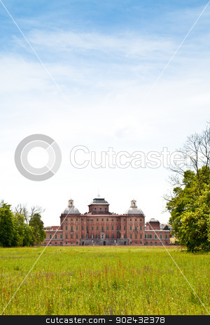 Royal garden stock photo, Italy - Racconigi Royal Palace. The green garden of the Palace during spring season by Paolo Gallo