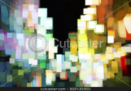 Cubic Night 3 stock photo, Abstract design expressions in lights and color by Anthony Ross