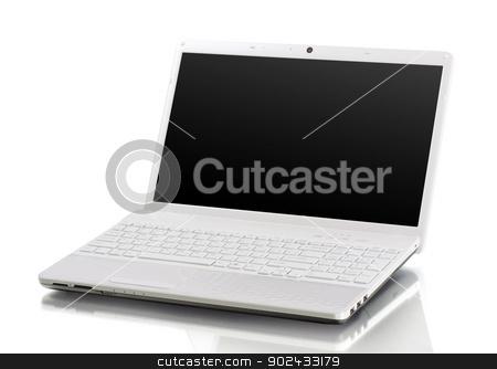 laptop  stock photo, laptop isolated on white background by Vitaliy Pakhnyushchyy