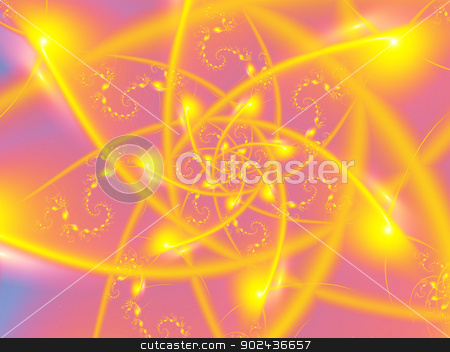 Atomic Sun stock photo, 3D rendered abstract of fractal atomic events. by John Lutheran