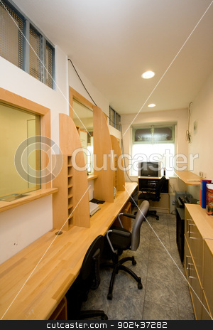 empty office stock photo, empty office by Sarka