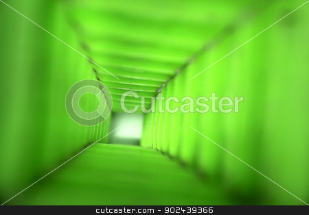 abstract tunnel stock photo, asbtract green background (very long green tunnel) by Jiri Vaclavek