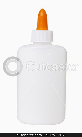 Glue Bottle stock photo, Glue bottle, isolated, includes clipping path by Bryan Mullennix
