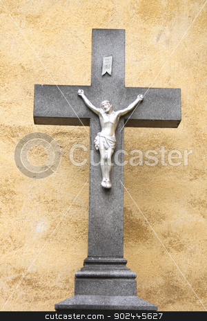 crucifix stock photo, crucifix with the jesus from the czech church  by Jiri Vaclavek