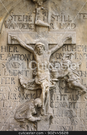crucifix stock photo, crucifix with the jesus from the czech church  by Jiri Vaclavek