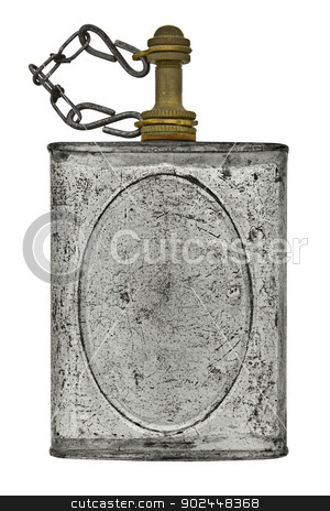 thinner dispenser stock photo, vintage thinner dispenser isolated over white background, clipping path by RedDaxLuma