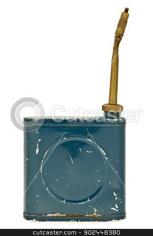 thinner dispenser stock photo, vintage thinner dispenser isolated over white by RedDaxLuma