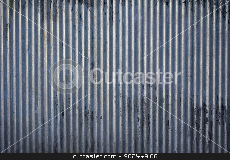 Corrugated steel texture stock photo, Weathered galvanized and corrugated sheet steel texture by Paul Fleet