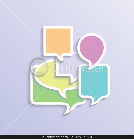 speech bubbles stock vector clipart, colorful illustration with speech bubbles  for your design by valeo5