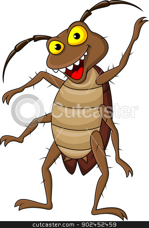 Cockroach cartoon stock vector clipart, Vector illustration of Cockroach cartoon by Teguh Mujiono