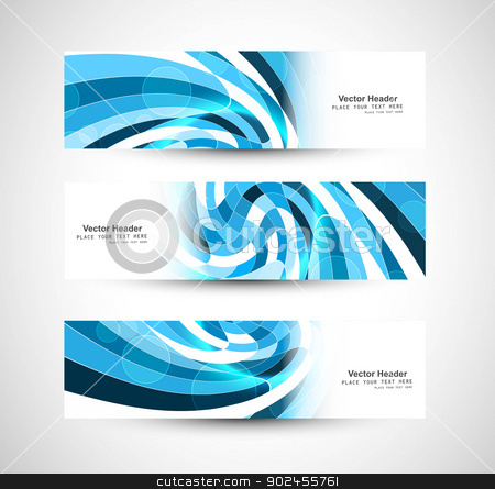 Abstract swirl header blue wave vector  stock vector clipart, Abstract swirl header blue wave vector whit design by bharat pandey