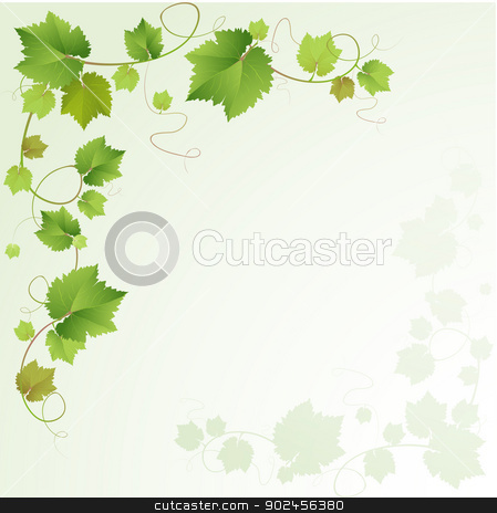 Grapes vine  stock vector clipart, Grapes vine background  by Loradora
