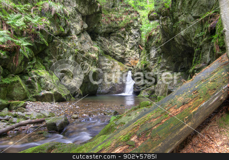 waterfalls stock photo, Shot of the Nyznerov waterfalls - Silver brook, Czech republic. Silver Creek Falls, also Nyznerov waterfalls lies in the village of Upper Skorosice to 12 hectares.  by Siloto