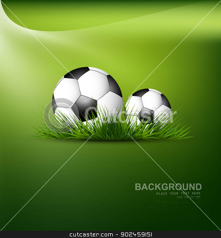 abstract football green grass colorful background vector stock vector clipart, abstract football green grass colorful background vector by bharat pandey