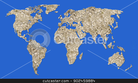 parched erth - global desert stock photo, Illustration of the parched earth - global warming by Siloto