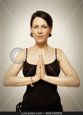 yoga woman  stock photo, An image of a pretty young woman by Markus Gann