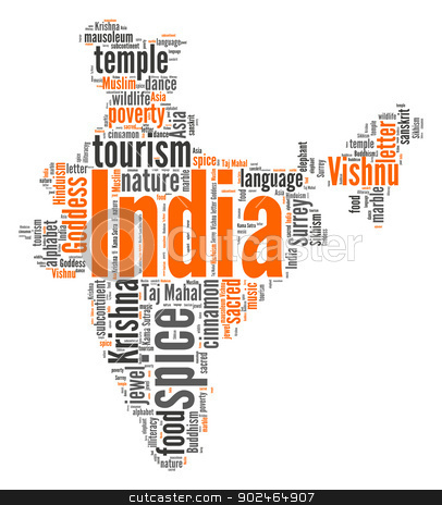 India stock photo, India word cloud by Refugeek