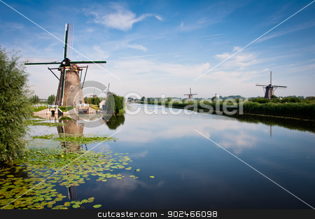 Kinderdijk stock photo, Kinderdijk by SandyS