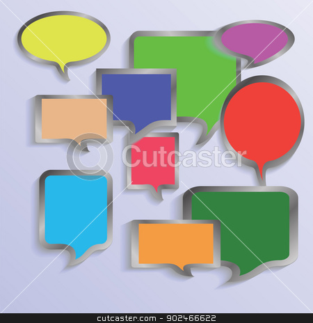 speech bubbles stock photo, colorful illustration with  speech bubbles  for your design by valeo5