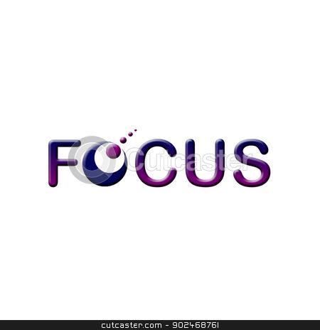 Focus logo stock photo, Focus logo by DoReMe