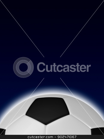 soccer ball stock photo, soccer ball background with copy space on the top by matteo bragaglio