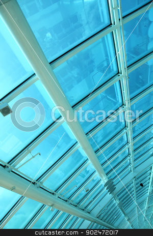 Airport Roof stock photo, At the airport. Architecture interior. by Michael Osterrieder