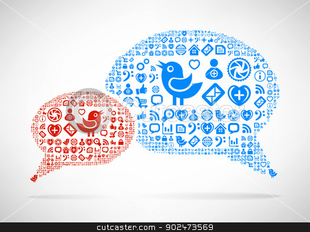 Social Media concept stock photo, Social Media concept. Cloud icon in the form of speech bubble by sermax55