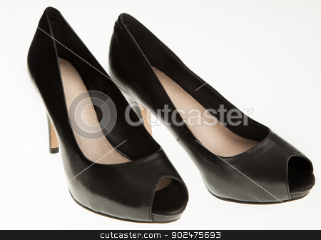 Black sexi high heels isolated stock photo, Black sexi high heels isolated by Isabelle-Anne Tassé