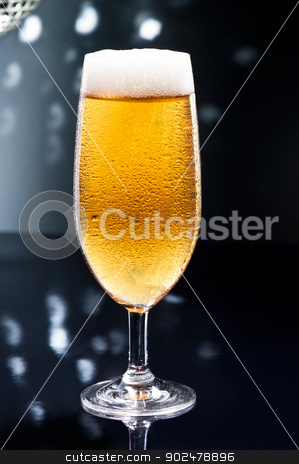 Bier on Disco Bar stock photo, Bier on Disco Bar with natural colors by Ulrich Schade