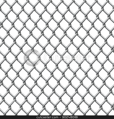 Wire fence seamless tile stock vector clipart, An illustration of a seamlessly tillable chain link fence pattern by Christos Georghiou
