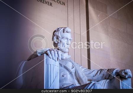 Abraham Lincoln Memorial in Washington DC USA stock photo, Abraham Lincoln Memorial in Washington DC USA by digidreamgrafix.com