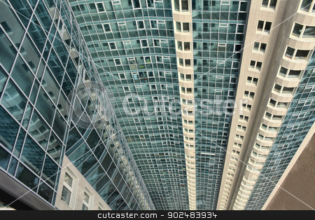 skyscraper stock photo, high-rise apartment buildings  top view  in St. Petersburg by mrivserg