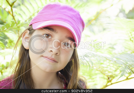 Young Child Girl Portrait Outside stock photo, Pretty Young Child Girl Portrait Outside. by Andy Dean